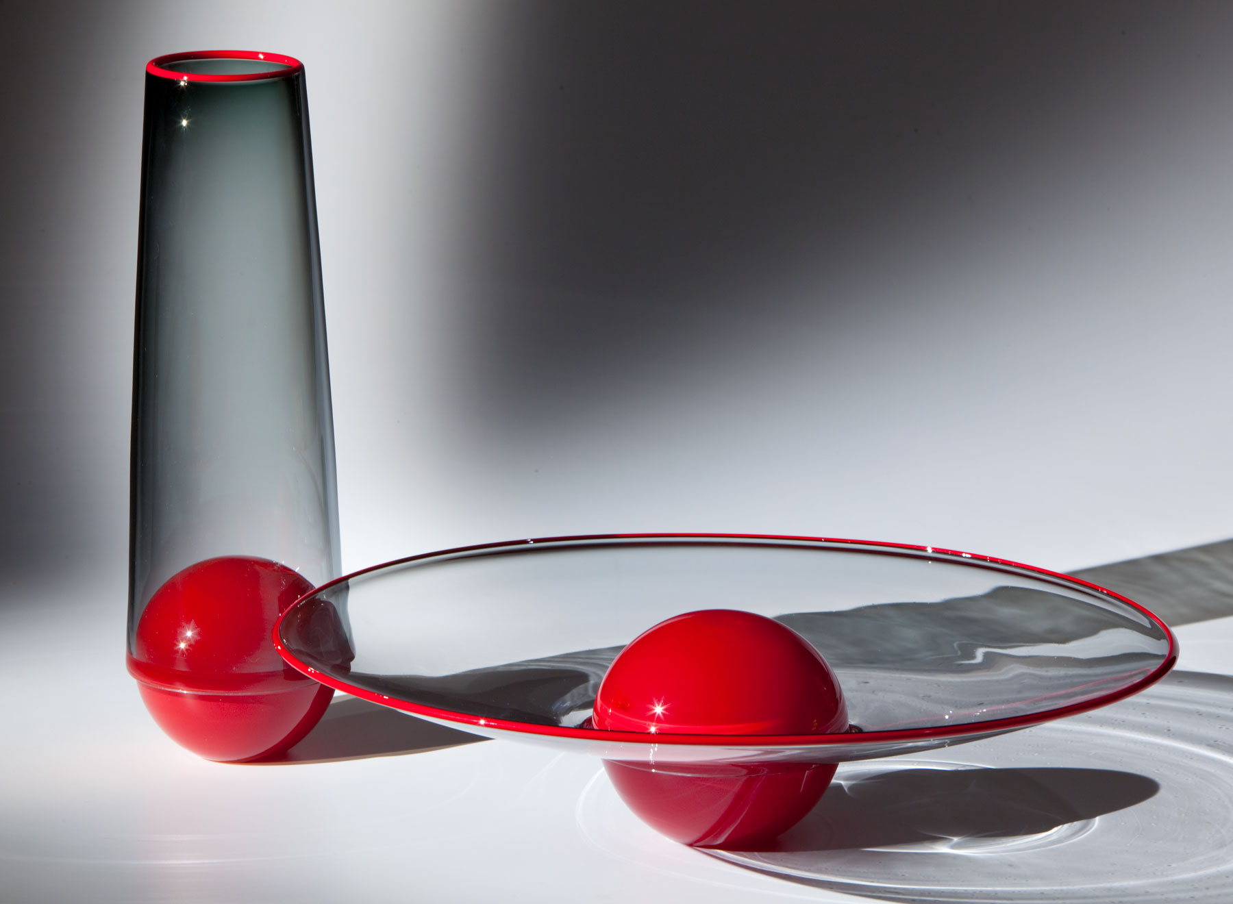 Palla Set - Red and Transparent Grey